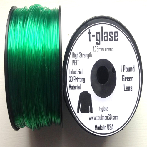 Green t-glase PETT 1.75mm 3D Printer Filament