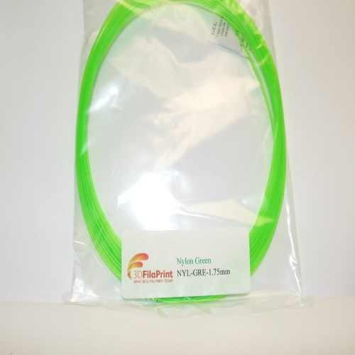 Nylon 6 1.75mm Green 10 Metre Wrap