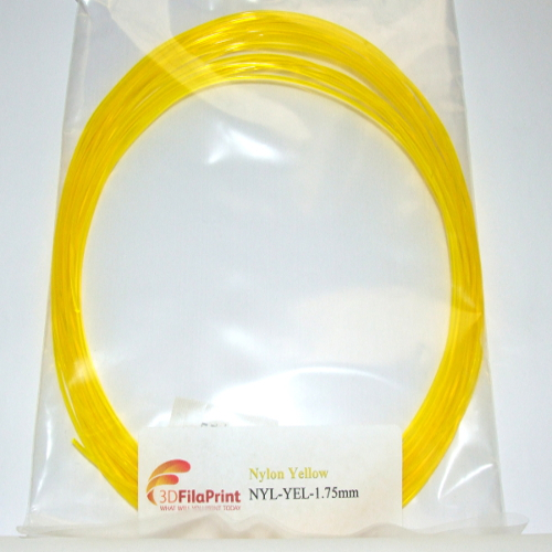 Nylon 6 1.75mm Yellow 10 Metre Wrap