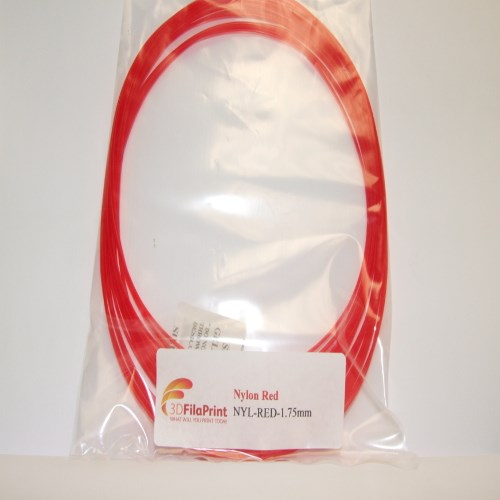 Nylon 6 Red 1.75mm 10 Metre Wrap