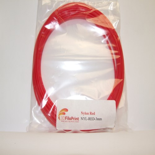 Nylon 6 Red 3mm 5 Metre Wrap