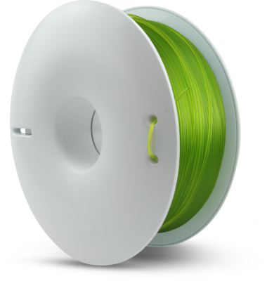 fiberlogy PET-G Transparent Light Green coloured 1.75mm 850gms Spool 3D printing filament