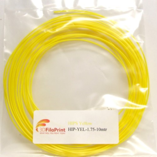HIPS Yellow 1.75mm 10 Metre Wrap