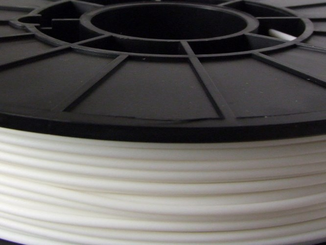 NinjaFlex 85A TPU White Snow 3mm Flexible 3D Printer Filament 750gms